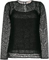 MICHAEL Michael Kors long-sleeved lace top