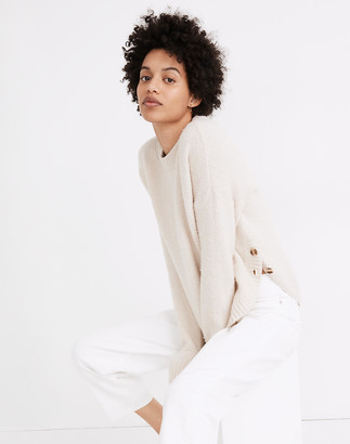 Madewell Birchmont Side-Button Pullover Sweater in Coziest Textured Yarn