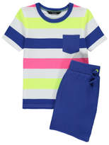 George Striped T-Shirt & Shorts Outfit