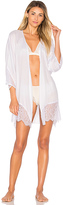 Only Hearts Paloma Beach Kimono in White. - size M/L (also in XS/S)