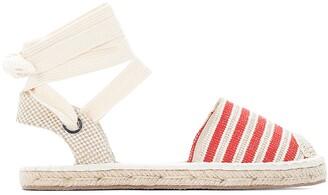 Castaluna Plus Size Striped Ankle Tie Espadrilles