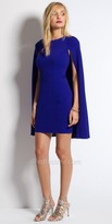 Camille La Vie Jersey Cape Cocktail Dress
