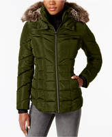 Nautica Faux-Fur-Trim Puffer Coat