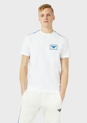 Emporio Armani Jersey T-Shirt With Velcro Logo Patch