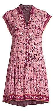 Poupette St Barth Women's Amora Drop Waist Mini Dress