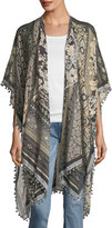 Michael Stars Floral Patchwork-Print Ruana Wrap