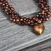 Murano Bish Bosh Becca Gold Heart Necklace