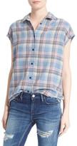 IRO Ally Plaid Cap Sleeve Shirt