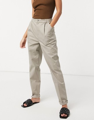 ASOS DESIGN chino pants in cream