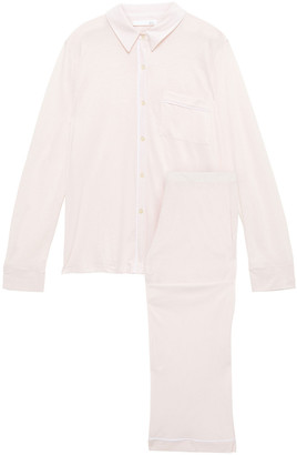 Skin Melange Pima Cotton-jersey Pajama Set