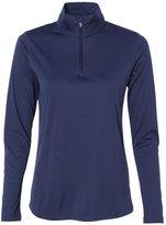 Alo Sport Ladies' Quarter-Zip Lightweight Pullover - DARK NAVY - L