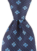 Hart Schaffner Marx Poppy Neat Floral Traditional Silk Tie