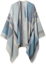 Holzweiler Tableau Checked Wool And Cashmere-blend Poncho