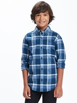 Old Navy Plaid Linen-Blend Shirt for Boys