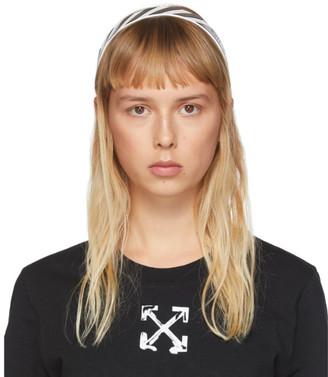 Off-White Black and White Diag Headband