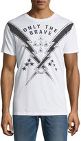 Diesel Only the Brave Cotton Tee, White