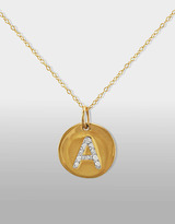 "Lord & Taylor 14 Kt. Gold Diamond Initial ""A"" Pendant Necklace"