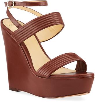 Alexandre Birman Veronica Quilted Wedge Sandals