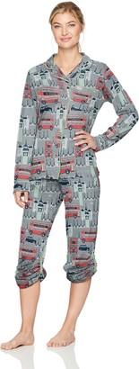 Munki Munki Women's Jersey Long Sleeve Classic Pj Set