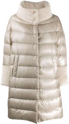 Herno Faux-Fur Collar Padded Coat