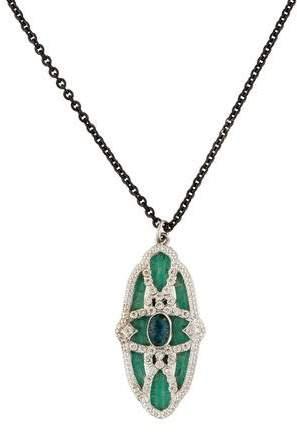 Armenta Diamond & Opal Mosaic Pendant Necklace