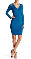 Wow Couture Long Mesh Sleeve Bodycon Dress