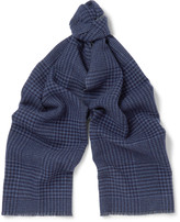 Brunello Cucinelli - Checked Cashmere Scarf