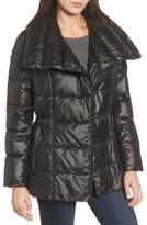 Kenneth Cole New York Women's Quilted Envelope Collar Coat