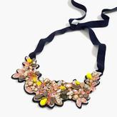 J.Crew Botanical embroidered crystal bib necklace