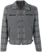 Salvatore Ferragamo panelled houndstooth and check jaclet