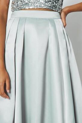 Coast Structured Satin Maxi Skirt
