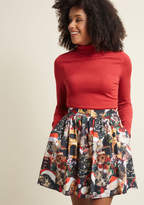 ModCloth Holiday Mini Skirt in Santa Paws in XXS
