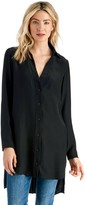 Sole Society Silk Pleat Back Tunic