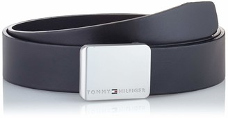 Tommy Hilfiger Men's Plaque Modern Rev Leather 3.5 Belt