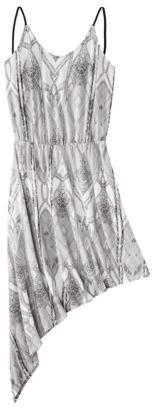 Mossimo Petites Sleeveless Asymmetrical Knit Dress - Assorted Prints