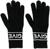 Givenchy logo gloves - women - Wool - XS