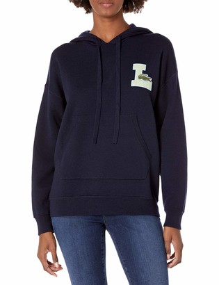 Lacoste Women's Long Sleeve Chenille Logo Hooded Sweater