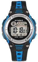 Tangda Boys Girls Cool Sport Digital Alarm Stopwatch Chronograph Waist Watch Gift Watch Blue