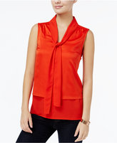 Tommy Hilfiger Tiered Bow-Tie Blouse, Only at Macy's