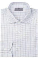 Canali Contrast Check Cotton Shirt