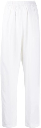 Forte Forte Elasticated Waist Straight-Leg Trousers