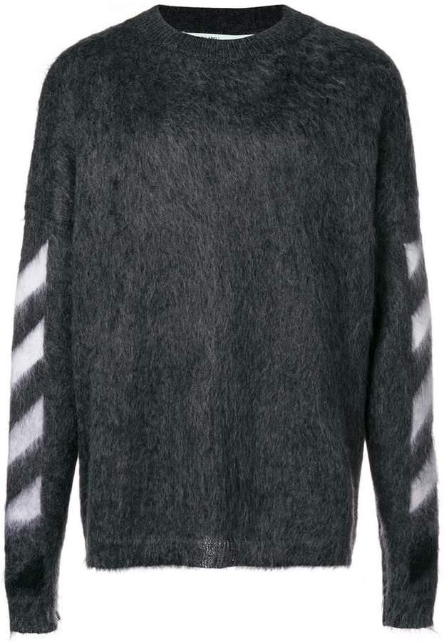 Off-White textured logo sweater