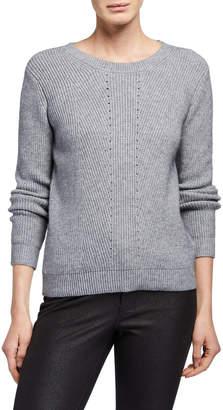 Halston H Scoop-Neck Ribbed Sweater