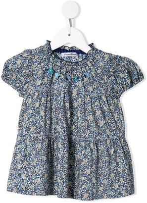 Familiar Floral Print Blouse