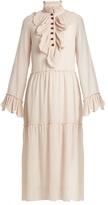 See by Chloe Ruffle-trimmed georgette dress