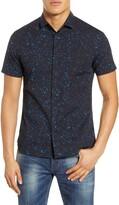 John Varvatos Loren Slim Fit Short Sleeve Button-Up Shirt