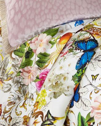 Roberto Cavalli Blaze 300 Thread-Count Flat Sheet, King