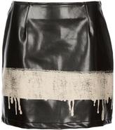 Moschino Vintage drip print skirt