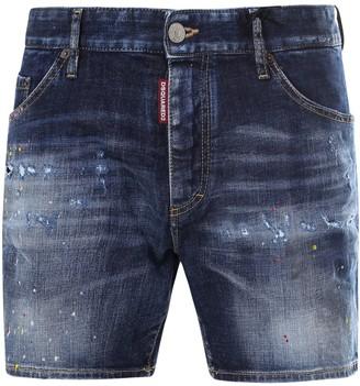 DSQUARED2 Mid Rise Denim Shorts