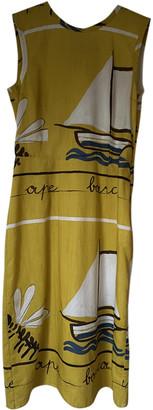 Prada Yellow Cotton Dresses